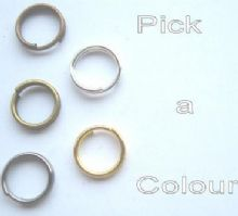 8mm split rings x 35.Choose a colour.
